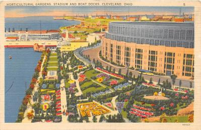 spo023576 - Cleveland Ohio, USA Municipal Stadium Base Ball Baseball Stadium Postcards Post Card
