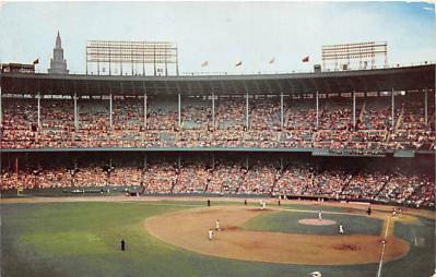 spo023586 - Municipal Stadium Cleveland Indians Game Cleveland, Ohio Base Ball Baseball Stadium Postcards Post Card