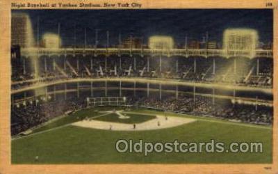 spo023672 - Yankee Stadium New York City, New York Base Ball Baseball Stadium Postcards Post Card