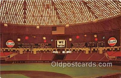 Astrodome Baseball Stadium Postcard Post Card