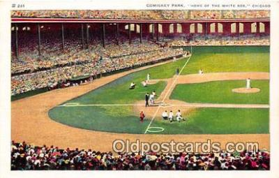Comiskey Park Baseball Stadium Postcard Post Card