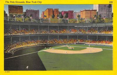 spo023A191 - Polo Grounds, New York City, USA Home of the New York Giants, Base Ball Baseball Stadium  Post Card