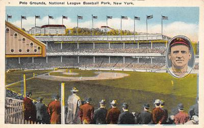 spo023A201 - Polo Grounds, New York City, USA Home of the New York Giants, Base Ball Baseball Stadium  Post Card