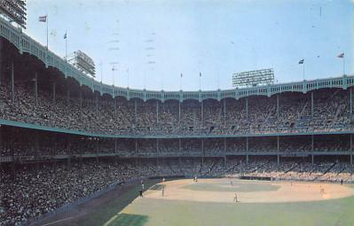 spo023A203 - Yankee Stadium NYC, New York USA Baseball Postcard