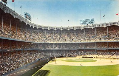 spo023A207 - Yankee Stadium NYC, New York USA Baseball Postcard