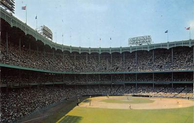 spo023A213 - Yankee Stadium NYC, New York USA Baseball Postcard