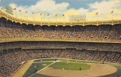 spo023A217 - Yankee Stadium NYC, New York USA Baseball Postcard