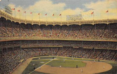 spo023A219 - Yankee Stadium NYC, New York USA Baseball Postcard