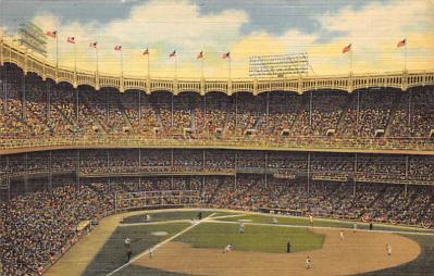 spo023A221 - Yankee Stadium NYC, New York USA Baseball Postcard