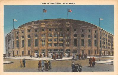 spo023A223 - Yankee Stadium NYC, New York USA Baseball Postcard