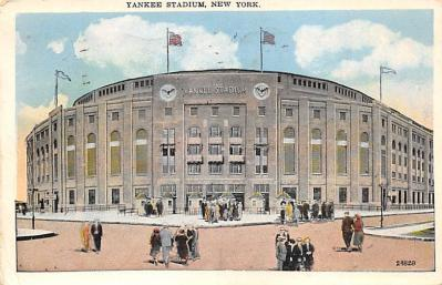 spo023A225 - Yankee Stadium NYC, New York USA Baseball Postcard