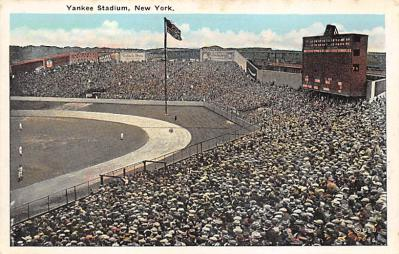 spo023A227 - Yankee Stadium New York City, New York USA Baseball Postcard