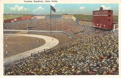 spo023A231 - Yankee Stadium New York City, New York USA Baseball Postcard