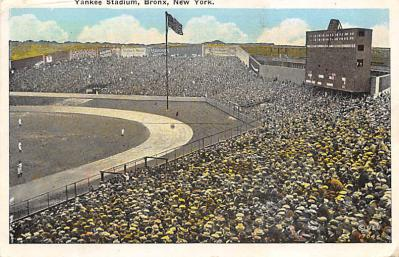 spo023A233 - Yankee Stadium New York City, New York USA Baseball Postcard