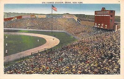 spo023A235 - Yankee Stadium New York City, New York USA Baseball Postcard