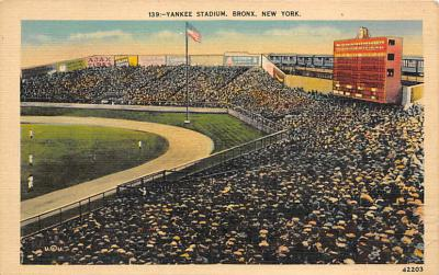 spo023A237 - Yankee Stadium New York City, New York USA Baseball Postcard