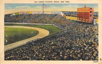 spo023A239 - Yankee Stadium New York City, New York USA Baseball Postcard