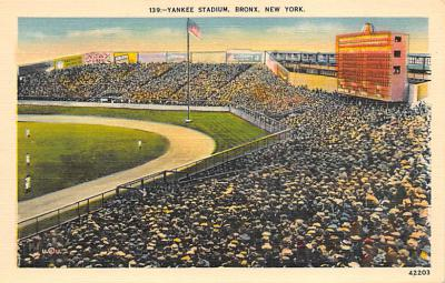 spo023A241 - Yankee Stadium New York City, New York USA Baseball Postcard