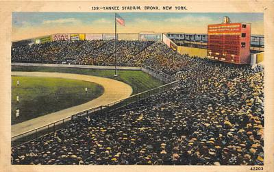 spo023A243 - Yankee Stadium New York City, New York USA Baseball Postcard