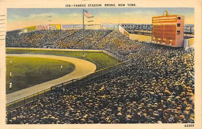 spo023A245 - Yankee Stadium New York City, New York USA Baseball Postcard