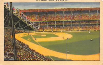 spo023A247 - Yankee Stadium New York City, New York USA Baseball Postcard