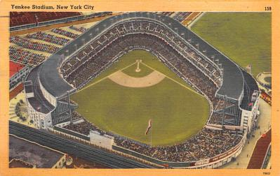 spo023A253 - Yankee Stadium New York City, New York USA Baseball Postcard