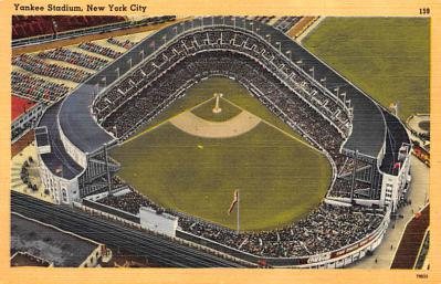 spo023A255 - Yankee Stadium New York City, New York Base Ball Stadium  Post Card Postcard