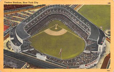 spo023A257 - Yankee Stadium NYC, New York Base Ball Stadium  Post Card Postcard