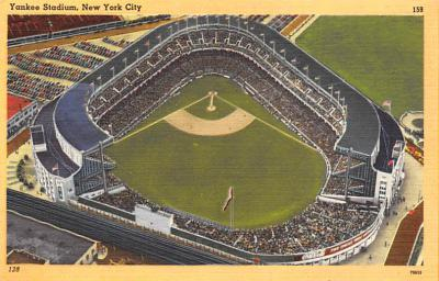 spo023A259 - Yankee Stadium NYC, New York Base Ball Stadium  Post Card Postcard
