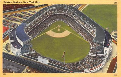 spo023A261 - Yankee Stadium NYC, New York Base Ball Stadium  Post Card Postcard