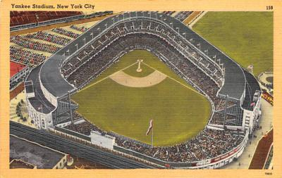 spo023A263 - Yankee Stadium NYC, New York Base Ball Stadium  Post Card Postcard