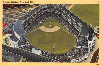 spo023A265 - Yankee Stadium NYC, New York Base Ball Stadium  Post Card Postcard