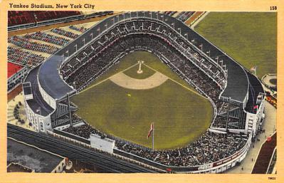 spo023A267 - Yankee Stadium NYC, New York Base Ball Stadium  Post Card Postcard