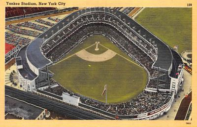 spo023A269 - Yankee Stadium NYC, New York Base Ball Stadium  Post Card Postcard
