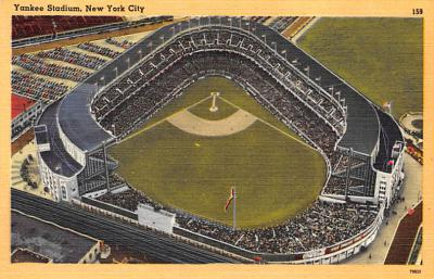 spo023A271 - Yankee Stadium NYC, New York Base Ball Stadium  Post Card Postcard