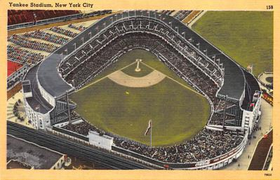 spo023A275 - Yankee Stadium NYC, New York Base Ball Stadium  Post Card Postcard