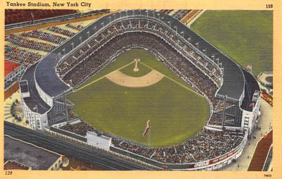 spo023A277 - Yankee Stadium NYC, New York Base Ball Stadium  Post Card Postcard