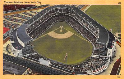 spo023A279 - Yankee Stadium NYC, New York Base Ball Stadium  Post Card Postcard