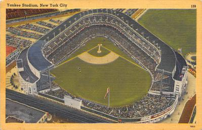 spo023A281 - Yankee Stadium NYC, New York Base Ball Stadium  Post Card Postcard