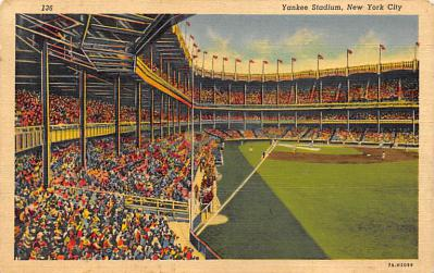spo023A283 - Yankee Stadium NYC, New York Base Ball Stadium  Post Card Postcard