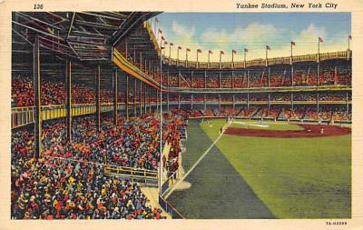 spo023A285 - Yankee Stadium NYC, New York Base Ball Stadium  Post Card Postcard