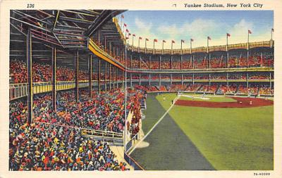 spo023A287 - Yankee Stadium NYC, New York Base Ball Stadium  Post Card Postcard