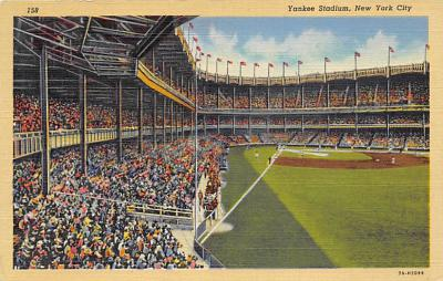 spo023A289 - Yankee Stadium NYC, New York Base Ball Stadium  Post Card Postcard