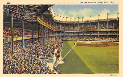 spo023A291 - Yankee Stadium NYC, New York Base Ball Stadium  Post Card Postcard