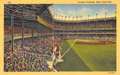 spo023A293 - Yankee Stadium NYC, New York Base Ball Stadium  Post Card Postcard