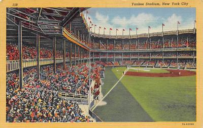 spo023A295 - Yankee Stadium NYC, New York Base Ball Stadium  Post Card Postcard