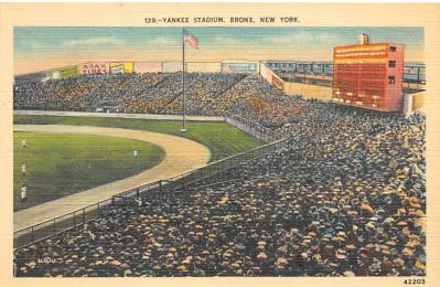 spo023A297 - Yankee Stadium NYC, New York Base Ball Stadium  Post Card Postcard
