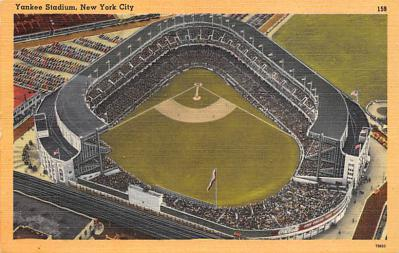 spo023A303 - Yankee Stadium NYC, New York Base Ball Stadium  Post Card Postcard