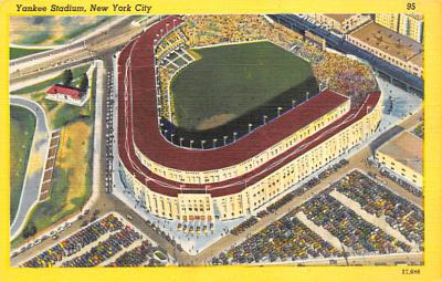 spo023A307 - Yankee Stadium NYC, New York Base Ball Stadium  Post Card Postcard