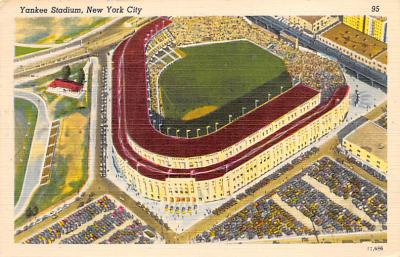 spo023A309 - Yankee Stadium NYC, New York Base Ball Stadium  Post Card Postcard